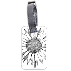 Sunflower Flower Line Art Summer Luggage Tags (one Side)  by Celenk