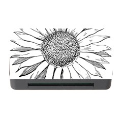Sunflower Flower Line Art Summer Memory Card Reader With Cf by Celenk