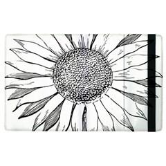 Sunflower Flower Line Art Summer Apple Ipad 2 Flip Case by Celenk