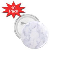 Marble Texture White Pattern 1 75  Buttons (10 Pack) by Celenk