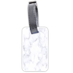 Marble Texture White Pattern Luggage Tags (one Side)  by Celenk