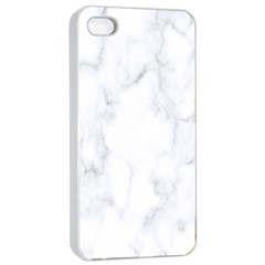 Marble Texture White Pattern Apple Iphone 4/4s Seamless Case (white) by Celenk