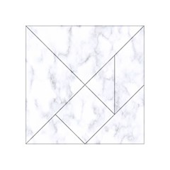 Marble Texture White Pattern Acrylic Tangram Puzzle (4  X 4 )
