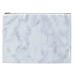 Marble Texture White Pattern Cosmetic Bag (xxl)  by Celenk