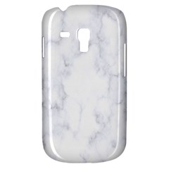 Marble Texture White Pattern Galaxy S3 Mini by Celenk