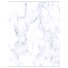 Marble Texture White Pattern Drawstring Bag (small) by Celenk