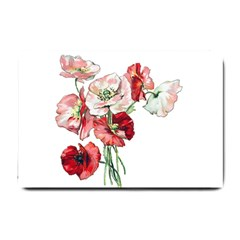 Flowers Poppies Poppy Vintage Small Doormat  by Celenk