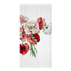 Flowers Poppies Poppy Vintage Shower Curtain 36  X 72  (stall)  by Celenk