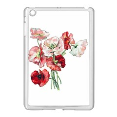 Flowers Poppies Poppy Vintage Apple Ipad Mini Case (white) by Celenk