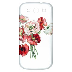 Flowers Poppies Poppy Vintage Samsung Galaxy S3 S Iii Classic Hardshell Back Case by Celenk