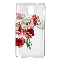 Flowers Poppies Poppy Vintage Samsung Galaxy Note 3 N9005 Hardshell Case by Celenk