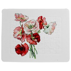 Flowers Poppies Poppy Vintage Jigsaw Puzzle Photo Stand (rectangular) by Celenk