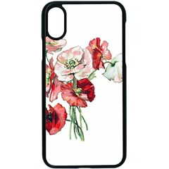 Flowers Poppies Poppy Vintage Apple Iphone X Seamless Case (black) by Celenk