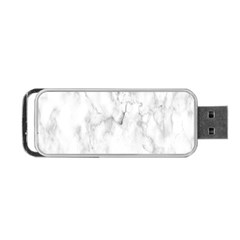 White Background Pattern Tile Portable Usb Flash (two Sides) by Celenk