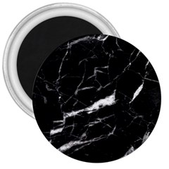 Black Texture Background Stone 3  Magnets by Celenk