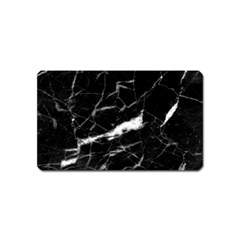 Black Texture Background Stone Magnet (name Card) by Celenk