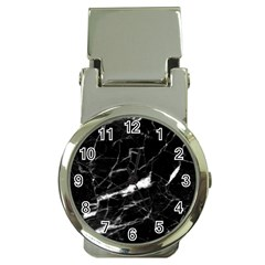 Black Texture Background Stone Money Clip Watches by Celenk