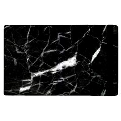 Black Texture Background Stone Apple Ipad 2 Flip Case by Celenk