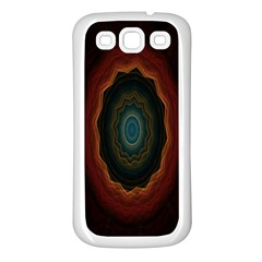 Cosmic Eye Kaleidoscope Art Pattern Samsung Galaxy S3 Back Case (white) by Celenk