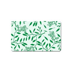 Leaves Foliage Green Wallpaper Magnet (name Card) by Celenk