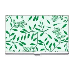 Leaves Foliage Green Wallpaper Business Card Holders by Celenk