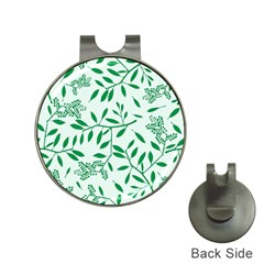 Leaves Foliage Green Wallpaper Hat Clips With Golf Markers by Celenk