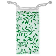 Leaves Foliage Green Wallpaper Jewelry Bag by Celenk