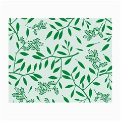Leaves Foliage Green Wallpaper Small Glasses Cloth (2 Side) by Celenk