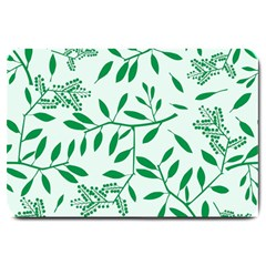 Leaves Foliage Green Wallpaper Large Doormat  by Celenk