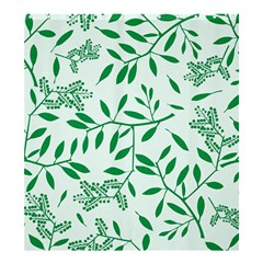 Leaves Foliage Green Wallpaper Shower Curtain 66  X 72  (large)  by Celenk