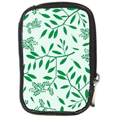 Leaves Foliage Green Wallpaper Compact Camera Cases by Celenk