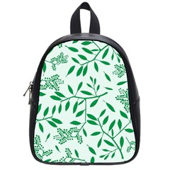 Leaves Foliage Green Wallpaper School Bag (small) by Celenk
