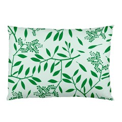 Leaves Foliage Green Wallpaper Pillow Case (two Sides) by Celenk