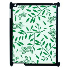 Leaves Foliage Green Wallpaper Apple Ipad 2 Case (black) by Celenk
