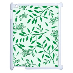 Leaves Foliage Green Wallpaper Apple Ipad 2 Case (white) by Celenk