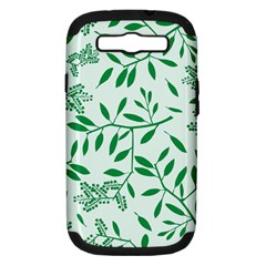 Leaves Foliage Green Wallpaper Samsung Galaxy S Iii Hardshell Case (pc+silicone) by Celenk