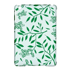Leaves Foliage Green Wallpaper Apple Ipad Mini Hardshell Case (compatible With Smart Cover) by Celenk