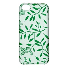 Leaves Foliage Green Wallpaper Apple Iphone 5c Hardshell Case by Celenk