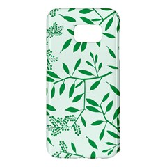 Leaves Foliage Green Wallpaper Samsung Galaxy S7 Edge Hardshell Case by Celenk