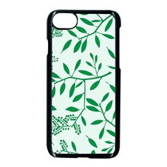 Leaves Foliage Green Wallpaper Apple Iphone 8 Seamless Case (black) by Celenk