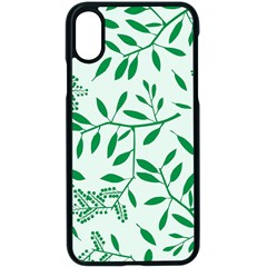 Leaves Foliage Green Wallpaper Apple Iphone X Seamless Case (black) by Celenk
