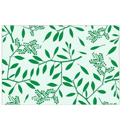 Leaves Foliage Green Wallpaper Canvas Cosmetic Bag (small)