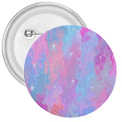 Space Psychedelic Colorful Color 3  Buttons by Celenk
