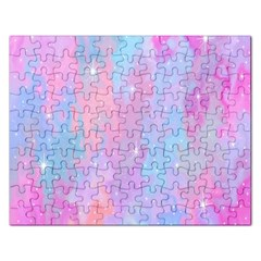 Space Psychedelic Colorful Color Rectangular Jigsaw Puzzl by Celenk