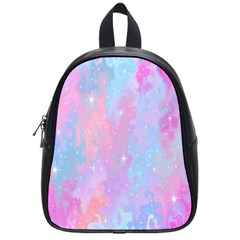 Space Psychedelic Colorful Color School Bag (small) by Celenk