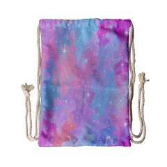 Space Psychedelic Colorful Color Drawstring Bag (small) by Celenk