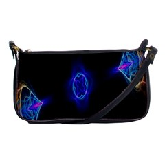 Lightning Kaleidoscope Art Pattern Shoulder Clutch Bags by Celenk