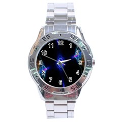 Lightning Kaleidoscope Art Pattern Stainless Steel Analogue Watch by Celenk