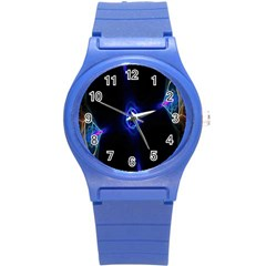 Lightning Kaleidoscope Art Pattern Round Plastic Sport Watch (s) by Celenk