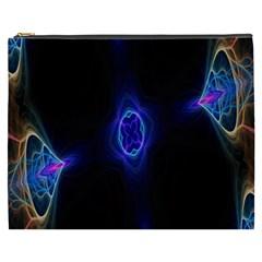 Lightning Kaleidoscope Art Pattern Cosmetic Bag (xxxl)  by Celenk